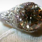 ring - Light Brown Diamond