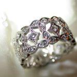 bands - Wide Platinum Diamond