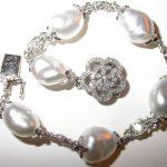 bracelet - Keshi Pearl and Diamond 2