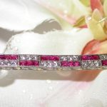 bracelet - Ruby and Diamond Deco Line