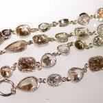 bracelet - Multi-Colored Multi-Shaped Diamond Hand-Bezeled In Platinum