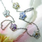 necklace - Multi-Sapphire Flower