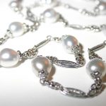 necklace - Platinum Keshi Pearl