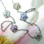 necklace - Rainbow Sapphire Flower