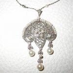 pendant - Pearl and Diamond Sautoir