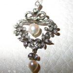 pendant - Vintage Pearl and Diamond