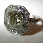ring - Bordered Asscher