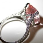 ring - Pink Sapphire Cushion Side