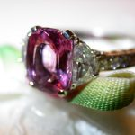 ring - Pink Spinel and Diamond